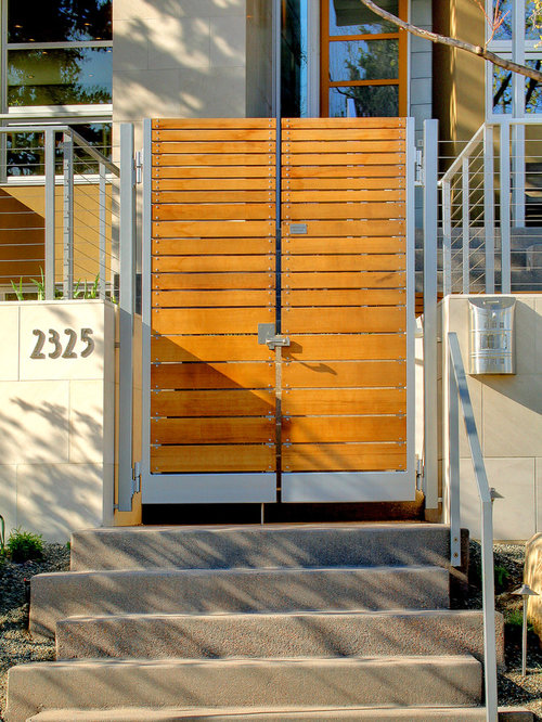 Gate Design Ideas steel main gate designs ideas tips photos designs This Is An Example Of A Modern Landscape In Denver With A Garden Path