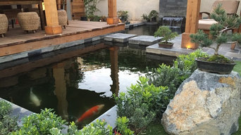 Halsted House Backyard Koi Pond