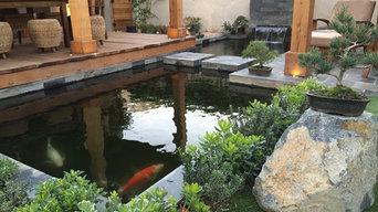 Halsted House Backyard Koi Pond