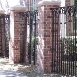 Hand forged scroll fence -