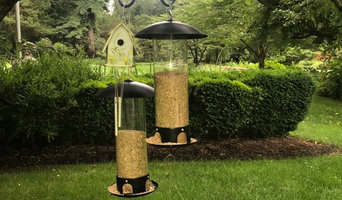 hanging bird feeders & wind chimes