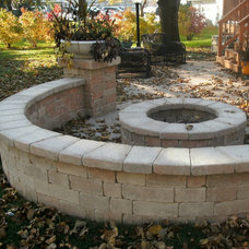 Traditional Landscape by Ferro's Brick Paving and Landscaping