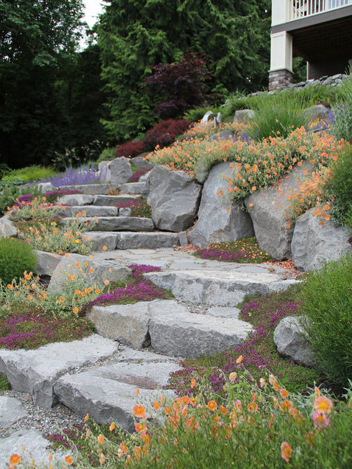 Best 70 traditional landscaping ideas houzz for Landscaping rocks seattle