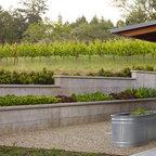 Concrete Retaining Wall Contemporary Landscape