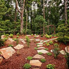 Craftsman Landscape by Living Stone Construction, Inc.