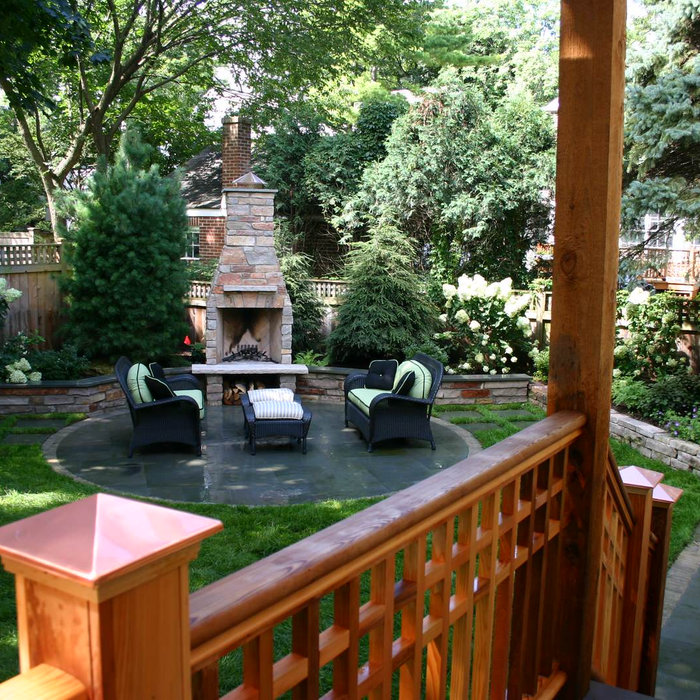 Contemporary family-focused back yard