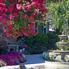Traditional Landscape by Casa Smith Designs, LLC