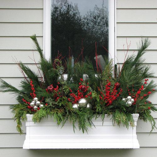 Silver decoration houzz for Jardiniere double pour balcon