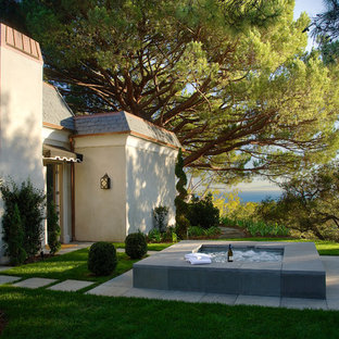 This is an example of a traditional landscaping in Santa Barbara.
