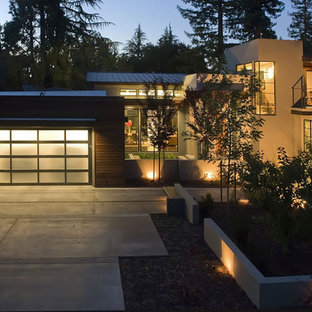 Design ideas for a contemporary front yard landscaping in San Francisco.