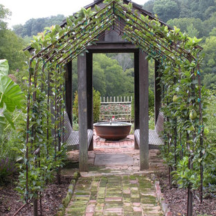 This is an example of a rustic full sun formal garden in Other.
