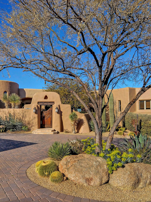 Design Ideas For A Southwestern Front Yard Concrete Paver Driveway In  Phoenix.