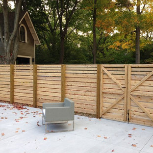 Design ideas for a modern landscaping in Boston.