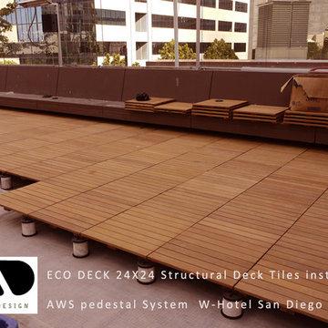 Hotel Decking with ECO Decks Ipe deck tiles