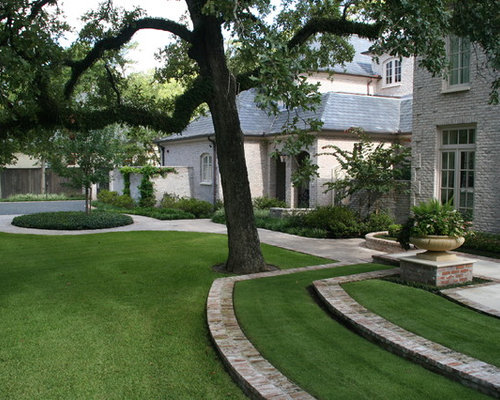 Brick Edging Lawn Design Ideas & Remodel Pictures | Houzz