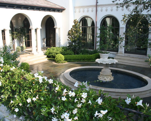 foto e idee per giardini formali - giardino formale con fontane - Piccolo Giardino Con Fontana