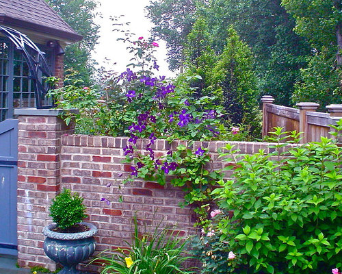brick wall fence home design photos