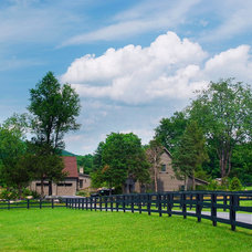 Farmhouse Landscape by Groundswell Design Group, LLC