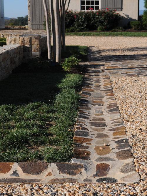Landscaped drainage ditch home design ideas pictures for Landscape drainage design