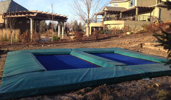 In-Ground Double Trampoline