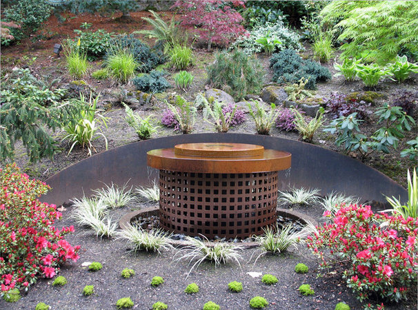 Contemporary Outdoor Fountains And Ponds by Aztec Artistic Productions