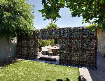 Industrial Style in Arcadia | Gabion Wall
