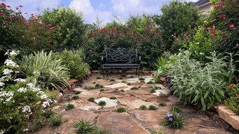 Informal front yard garden
