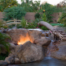 Tropical Landscape by Red Rock Pools and Spas and Red Rock Contractors
