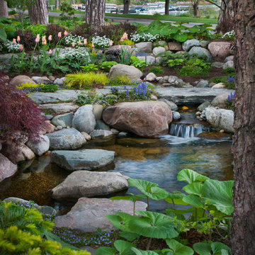 Intimate Courtyard, Pond and Stream