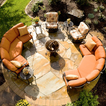 Inviting Patio with fire feature