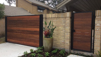 Ipe and Custom iron Automatic gate