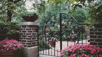 Iron Gate with Dogwood Motif