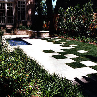This is an example of a small traditional full sun backyard outdoor sport court in Houston.