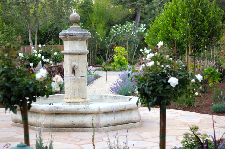 Mediterranean Landscape by Lifescape Custom Landscaping, Inc.