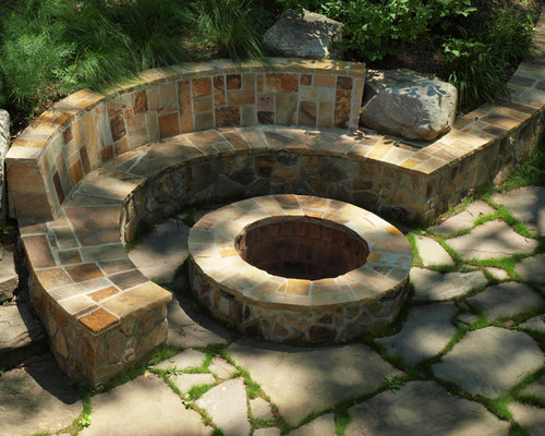 Stone Fire Pit Home Design Ideas Pictures Remodel And Decor