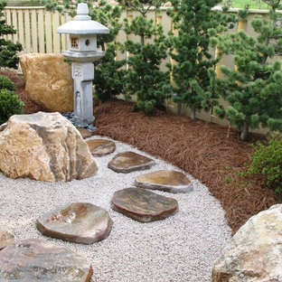 Photo of a small asian stone garden path in Philadelphia.