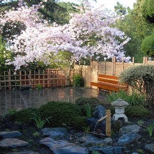 Inspiration for an asian backyard landscaping in San Francisco.
