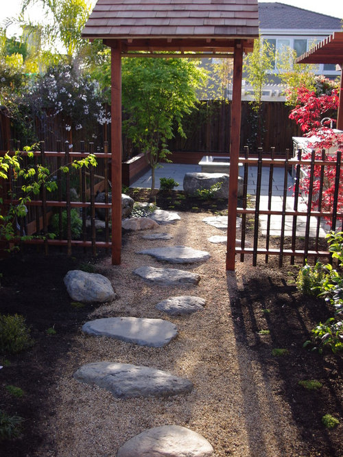 Design Ideas For An Asian Backyard Gravel Landscaping In San Francisco.
