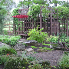 Asian Landscape by Garden Design, Inc.