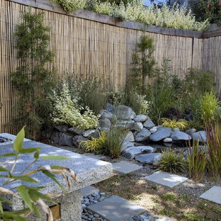 Bild på en orientalisk trädgård