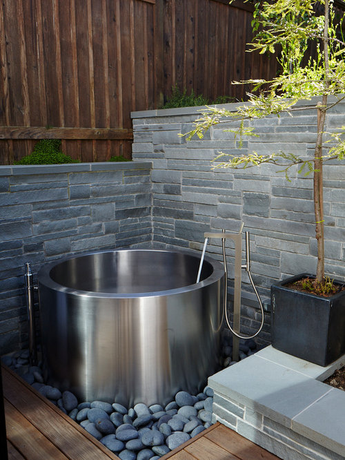 Outdoor Soaking Tub Houzz - Outdoor japanese soaking tub