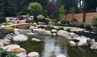 Japanese Style Water Feature with Bridge
