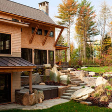 Contemporary Landscape by Gristmill Builders, LTD