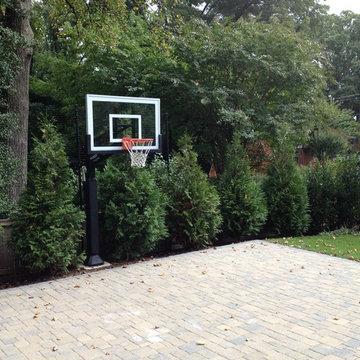 Joseph P's Pro Dunk Silver Basketball System on a 26x22 in Arlington, VA