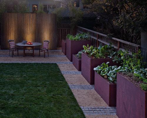 Design Ideas For A Mid Sized Contemporary Partial Sun Backyard Gravel  Landscaping In San Francisco