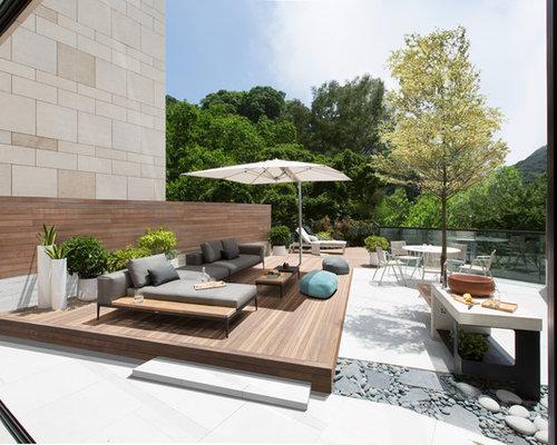 Perfect idee per un giardino moderno esposto in pieno sole for Giardini moderni design
