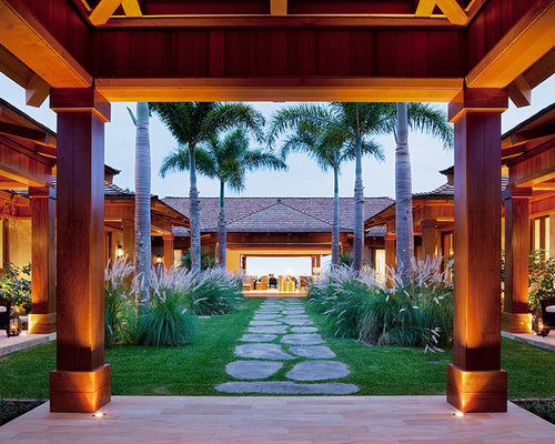 patio floor lighting. photo of a tropical courtyard landscaping in hawaii patio floor lighting l