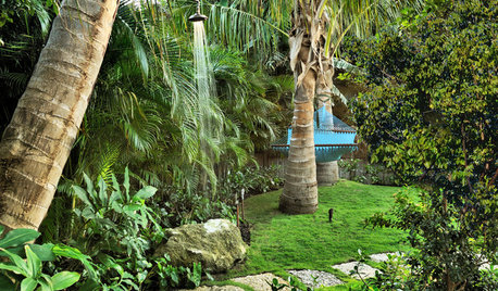 Tropical Downpour: Outdoor Showers for Lovers of Nature