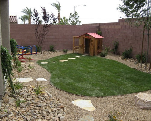 Design Ideas For A Mid Sized Tropical Backyard Landscaping In Las Vegas  With An Outdoor