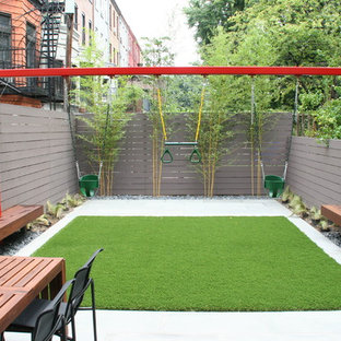This is an example of a contemporary outdoor playset in New York.